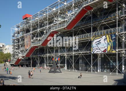 Centre Pompidou, Paris, Île-de-France, France - Stock Photo