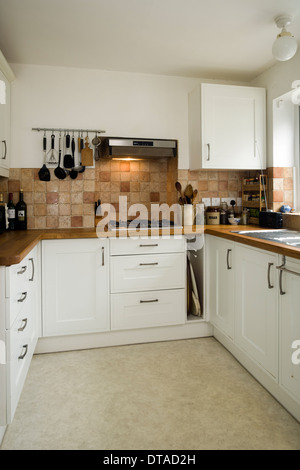 A small fitted kitchen uk stock photo royalty free image for Small fitted kitchens