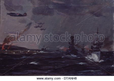 Attack of the Russian fleet near Odessa, 1944. Artist: Deineka, Alexander Alexandrovich (1899-1969) - Stock Photo