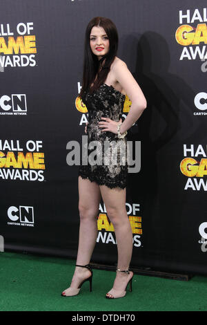 Los Angeles, California, USA. 15th Feb, 2014. Dakota Hood attends Cartoon Network's Fourth Annual Hall Of Game Awards - Stock Photo