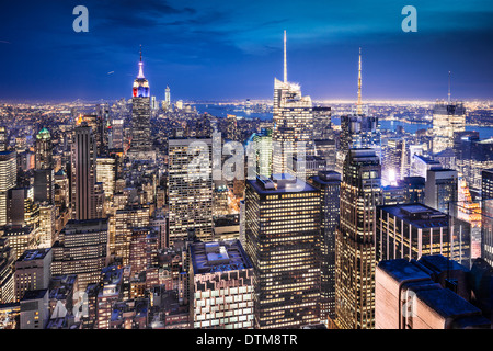 New York City aerial cityscape. - Stock Photo
