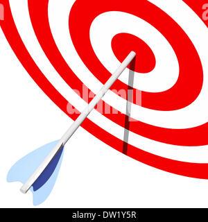 target and arrow - Stock Photo