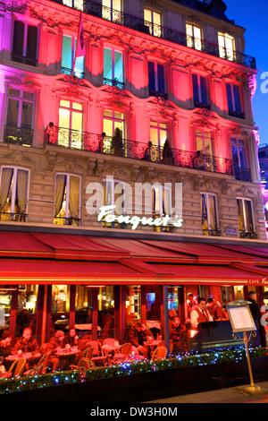 France paris champs elysees restaurants cafes pavement stock photo royalty f - H m avenue des champs elysees ...