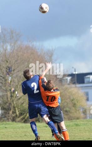 Bristol Downs League Amateur Football Match - Stock Photo