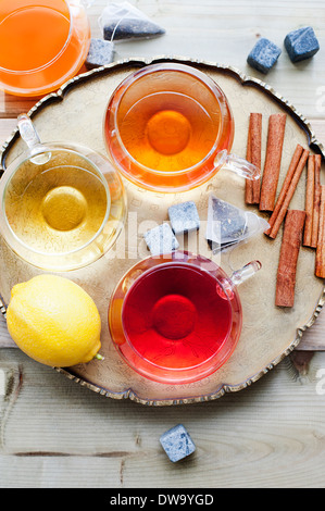 Jugs of fresh juice - Stock Photo