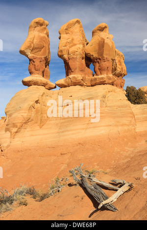 The Devil's Garden of the Grand Staircase-Escalante National Monument (GSENM) in south central Utah, the United - Stock Photo