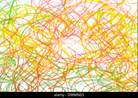 Seamless doodles background on white paper - Stock Photo