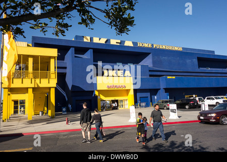 exterior of ikea megastore in los angeles area southern california stock photo royalty free. Black Bedroom Furniture Sets. Home Design Ideas