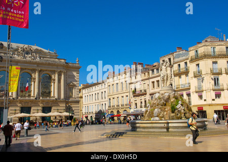 Opera Comedie, Montpellier - Stock Photo
