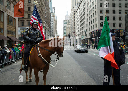 New York, NY, USA. 17th March, 2014. St Patrick's Day celebrations in New York City continued without Mayor Bill - Stock Photo