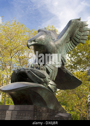 The East Coast War Memorial in Battery Park New York 3 - Stock Photo