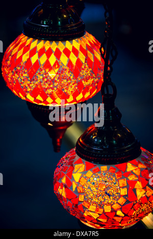 Islam and arabic lantern lamp at souk in Muscat, Oman - Stock Photo