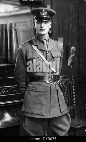 Royal Navy WW1 an officer of the Royal Naval Division - Stock Photo