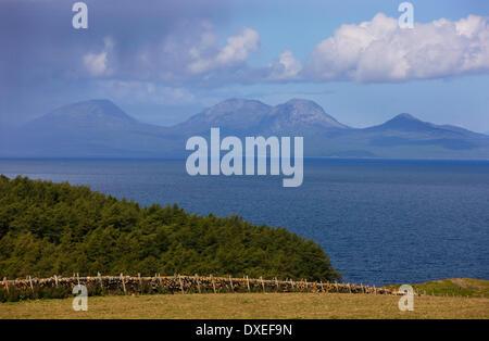 The island of Jura as seen from Kintyre penisula,Argyll - Stock Photo