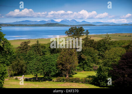 Summer view towards the Paps of Jura & Gigha as seen from Kintyre, Argyll - Stock Photo