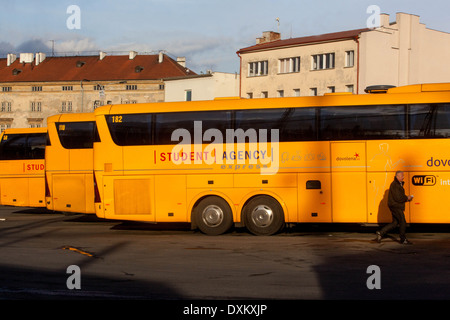 Bus station Florenc, Prague - Stock Photo