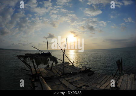 Pelican Bar near Treasure Beach on the south coast of the Caribbean island of Jamaica. - Stock Photo