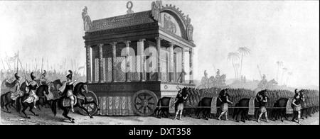 Alexander the Great, funeral procession - Stock Photo