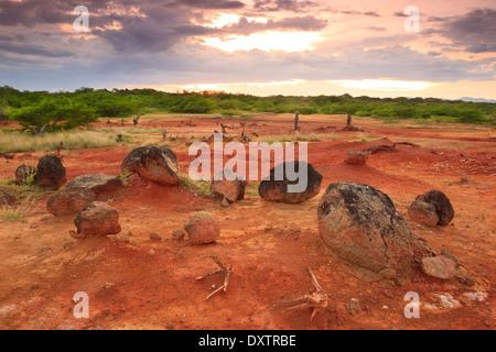 Volcanic rocks in Sarigua national park (desert), Herrera province, Republic of Panama. - Stock Photo