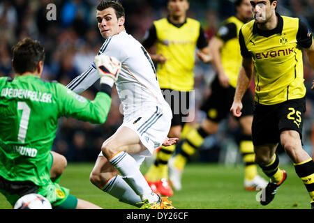 Madrid, Spain. © D. 2nd Apr, 2014. Gareth Bale (Real) Football/Soccer : UEFA Champions League Round of 8, 1at leg - Stockfoto
