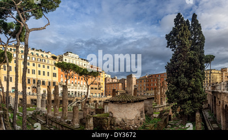Largo di Torre Argentina in Rome, Italy - Stock Photo