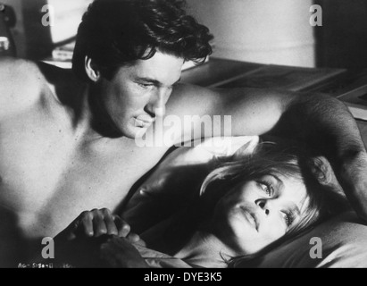 Richard Gere and Lauren Hutton, on-set of the Film, 'American Gigolo', 1980 - Stock Photo