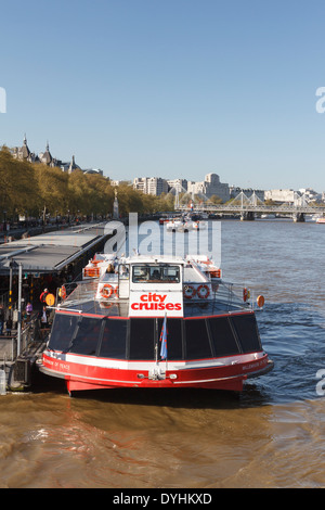 City Cruises River Thames London England Uk River Bus