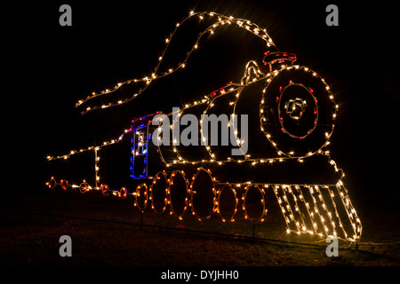Christmas Lights And Displays At Moody Gardens In Galveston Stock Photo Royalty Free Image