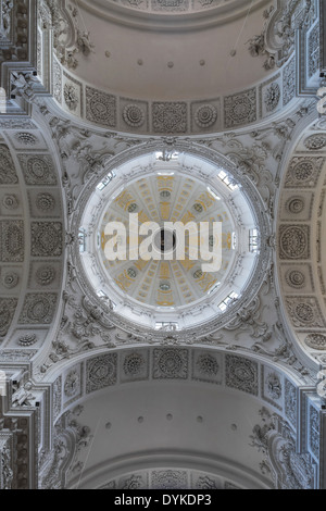 Under the dome, Theatinerkirche, Munich, Bavaria, Germany. - Stock Photo