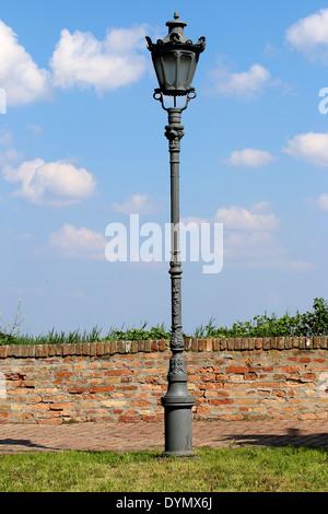 Old lamps on the Petrovaradin fortress in Novi Sad, Serbia - Stock Photo