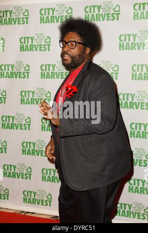 New York, NY, USA. 24th Apr, 2014. Questlove at arrivals for City Harvest 20th Annual An Evening of Practical Magic, - Stock Photo
