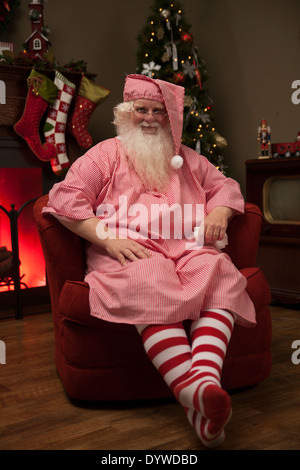 Real santa claus santa claus sitting in the living room Photoshop santa in your living room free