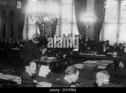 The Peace Treaty of Versailles, 1920 - Stock Photo