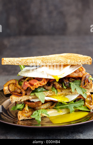 Bacon and rocket toasted sandwich Stock Photo, Royalty ...