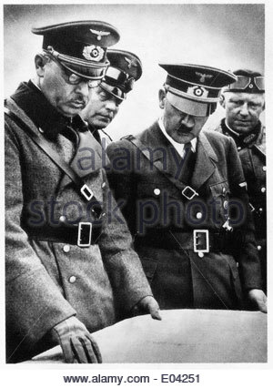 Adolf Hitler among his officers - Stock Photo
