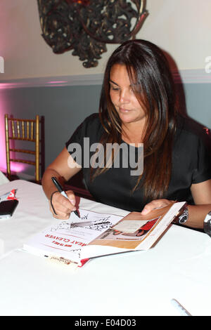 New York, New York, USA. 1st May, 2014. Book Signing meet the mob wives' the Graziano sisters© 2014 .jennifer Graziano - Stock Photo