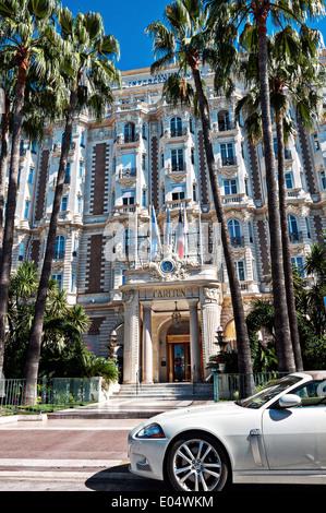Europe, France, Alpes-Maritimes, Cannes. The famous Carlton Palace Hotel. - Stock Photo