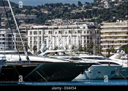 Europe, France, Alpes-Maritimes, Cannes. Palace Hotel Martinez. - Stock Photo