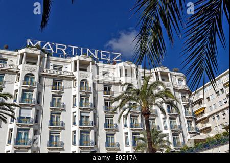 Europe, France, Alpes-Maritimes, Cannes. Martinez palace hotel. - Stock Photo