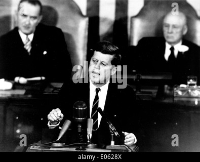 Kennedy Giving Historic Speech to Congress - Stock Photo