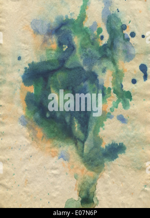 Watercolor on Old paper Texture - Stock Photo
