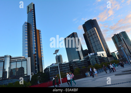 Eureka Tower in Melbourne Victoria Australia,As of December 2013 it is the 14th tallest residential building in - Stockfoto