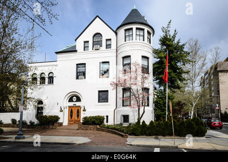 Embassy of Morocco, 1601 21st Street NW, Washington DC - Stock Photo