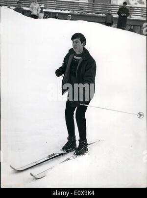Dec. 12, 1965 - Duke and Children in Liechenstein. Prince Charles Skiing: The Duke of Edinburgh, Princess Anne and - Stock Photo