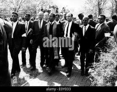 Funeral of reverend Martin Luther King Jr. - Stock Photo