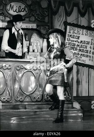 Jun. 19, 1969 - This ''wild west'' tale doesn't take place in a dusty saloon, but a milk bar, and, in place of pistols, - Stock Photo