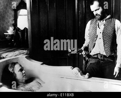 Marlon Brando and Jack Nicholson in film scene - Stock Photo