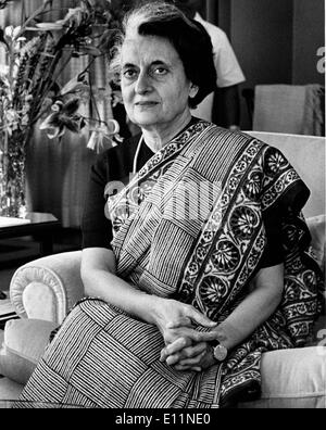 Portrait of Prime Minister INDIRA GANDHI - Stock Photo