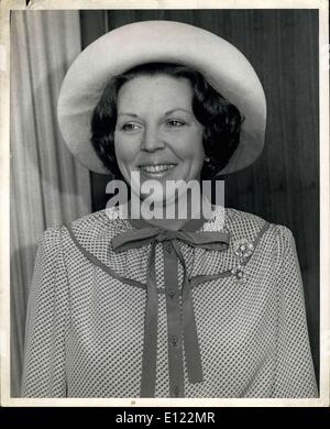 Apr. 24, 1982 - On April 18th-24th her Majesty Queen Beatrix and His Royal Highness Prince Claus of the Netherlands - Stock Photo