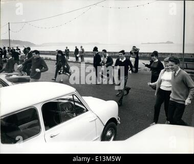 Mar. 22, 2012 - Honeymooners Car Race - One non-starter - The Channel Island of JERSEY is always a popular spot - Stock Photo
